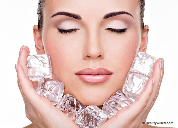 ice cubes can heal acne and pimples