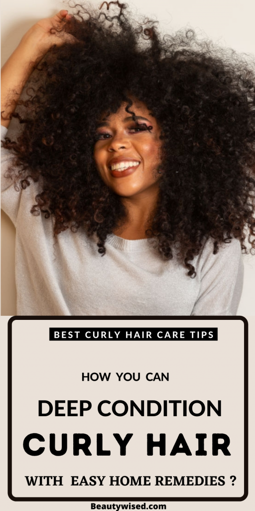 How to deep condition your curly hair at home?