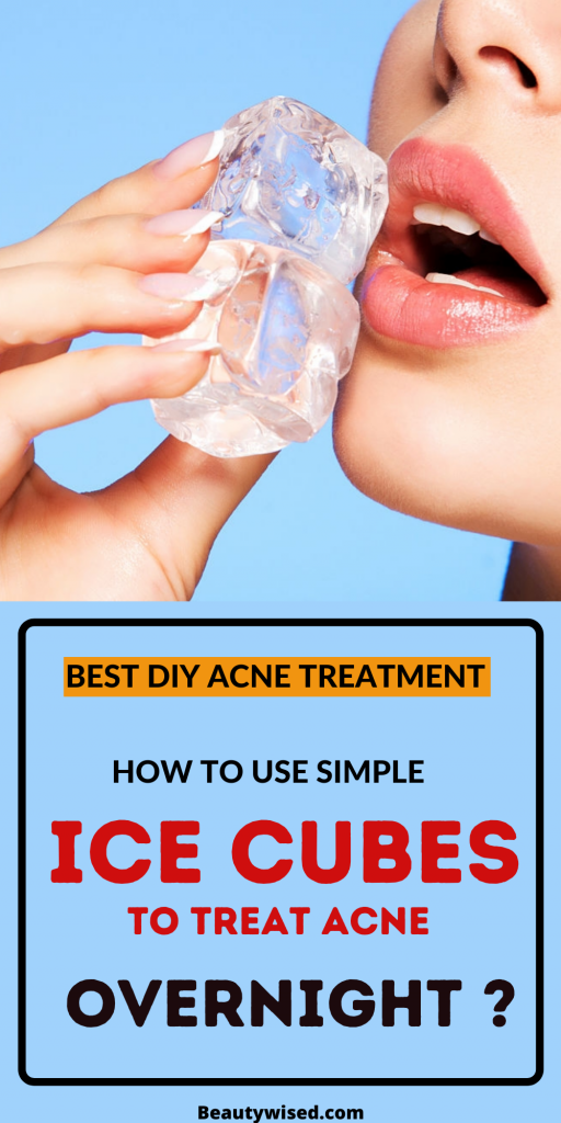 How to use ice cubes to treat pimples?