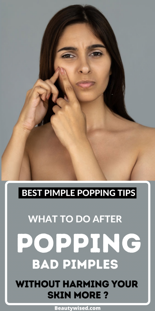 what to do after popping a pimple?