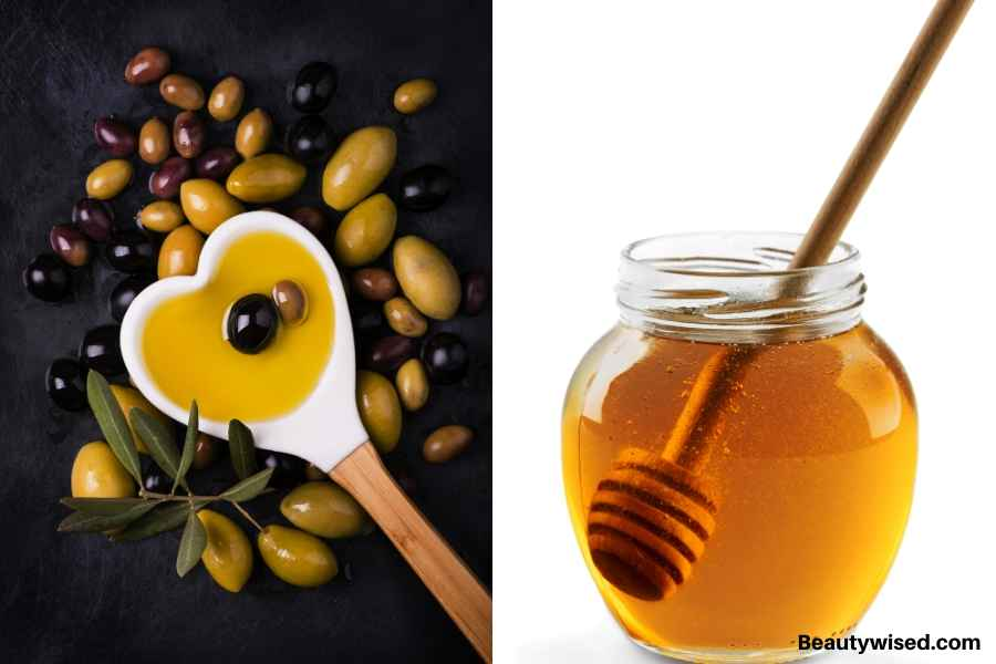 DIY honey and olive oil exfoliating scalp scrub