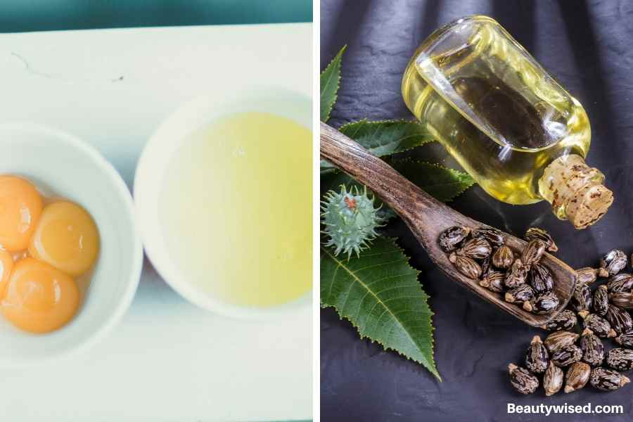 DIY castor oil and egg hair conditioner
