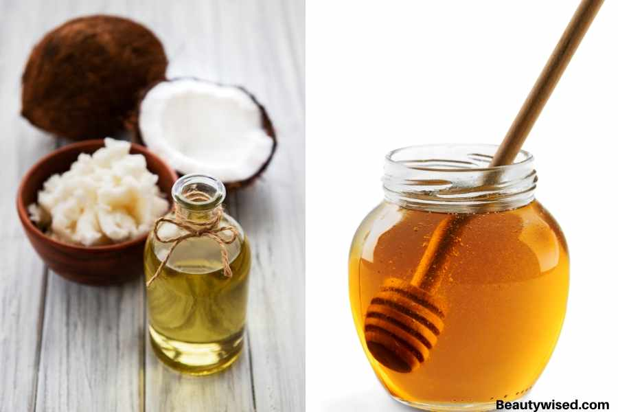 DIY Coconut oil and honey hair pack