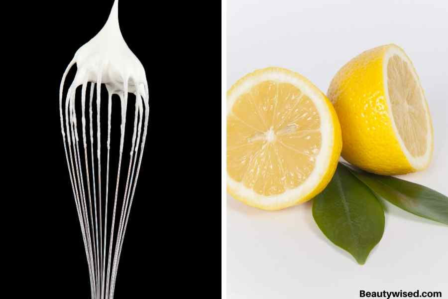 egg white and lemon mask for blackheads