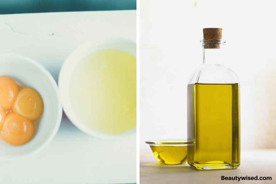 DIY egg and olive oil deep conditioner
