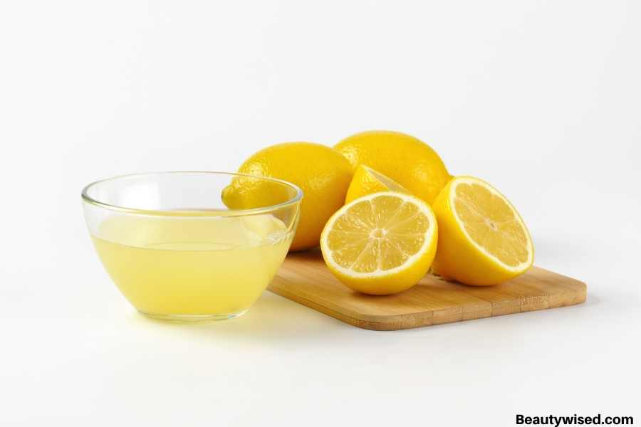 lemon juice for acne