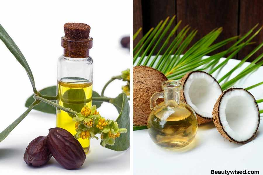 jojoba oil and coconut oil for dandruff