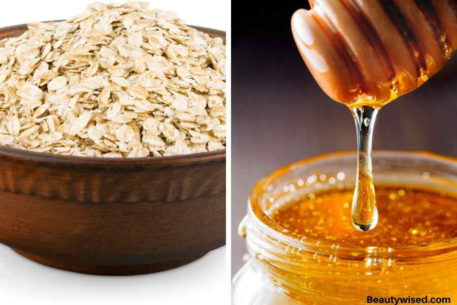 oat meal and honey exfoliation masks for blackheads on nose