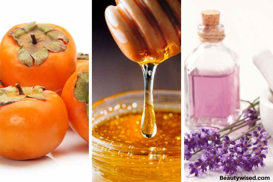DIY persimmon, honey and essential oil deep hair conditioner