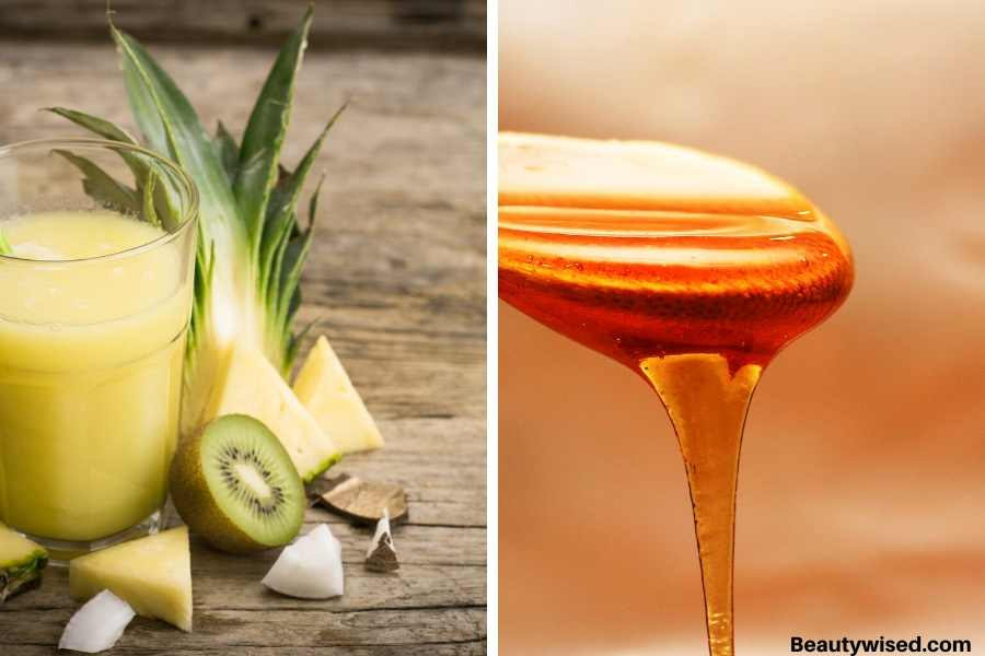 Pineapple and honey DIY acne mask