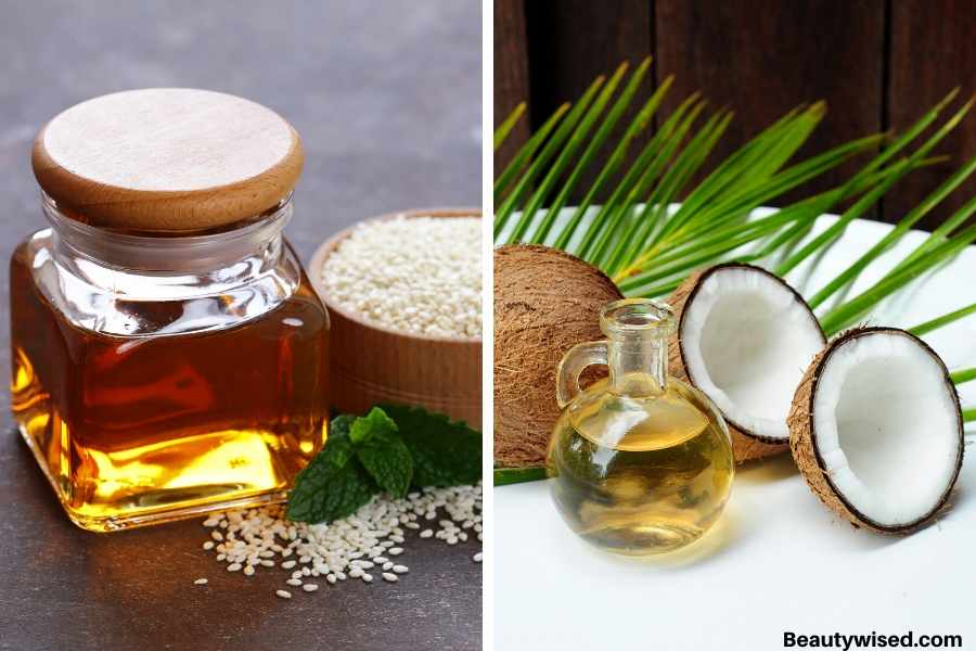 sesame oil and coconut oil for dandruff