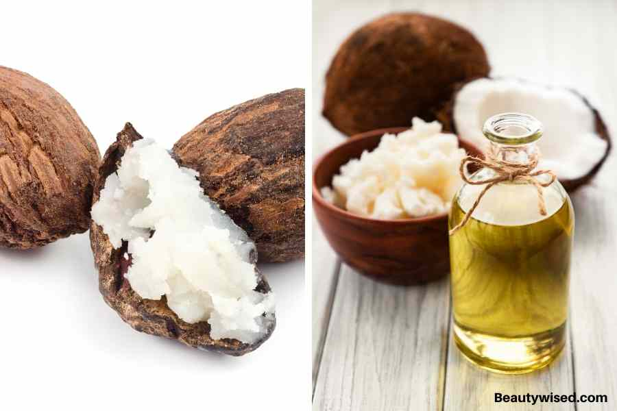 shea butter and coconut oil hair pack
